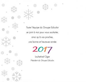 Voeux 2017 - Mot du Président d'Edicolor